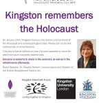 Kingston Remembers the holocaust event Poster