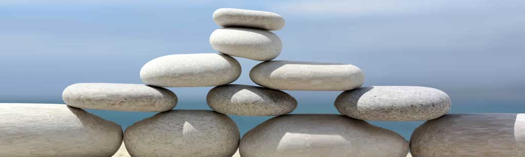 stack of stones symbolising the strong foundations required for business