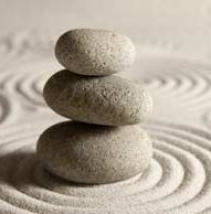 Stones find balance on the sand