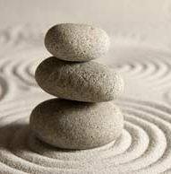 Stones find balance on the sand