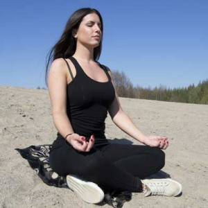 Lady practicing mindfulness-based-cognitive-therapy