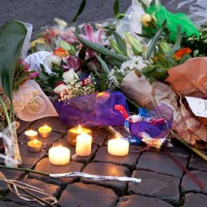 Paris Attacks Flowers of Tribute