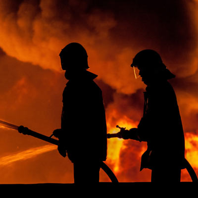 firefighters tackling a blaze & the mental health implications