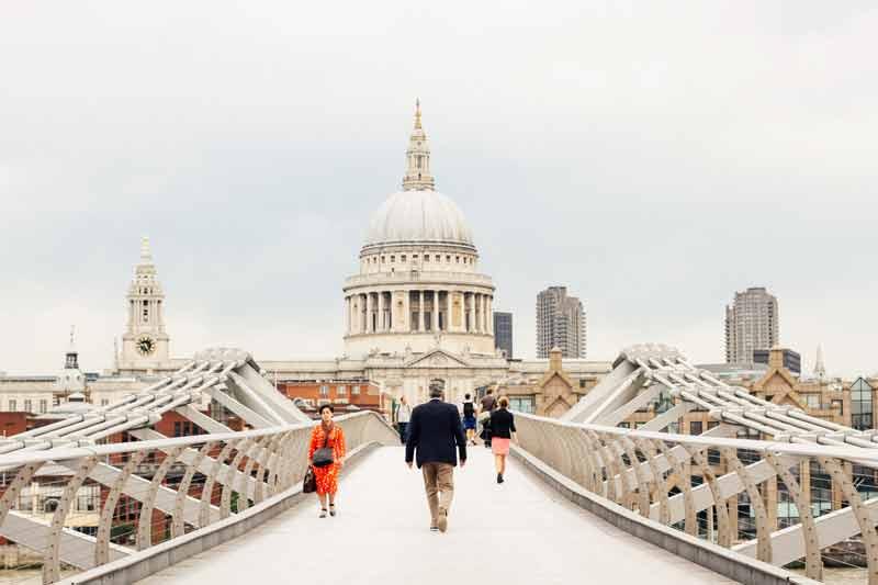 Millenium Bridge representing a bridge for mental health in Britain