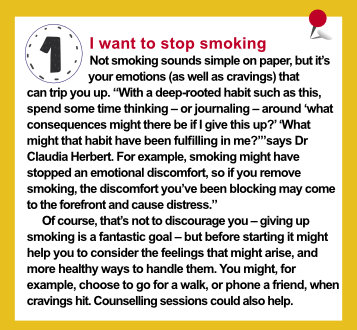 New Year health resolutions - I want to stop smoking