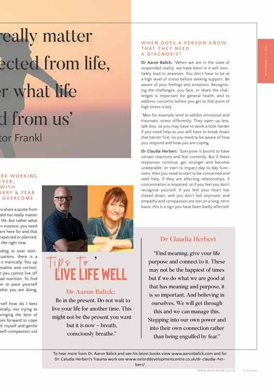 The WellBook Resilience Issue FEB 2019 article with Dr Claudia Herbert